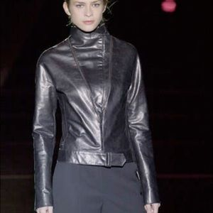 Badgley Mischka Runway Leather Jacket